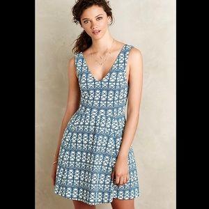 Maeve Textured Double-V Dress
